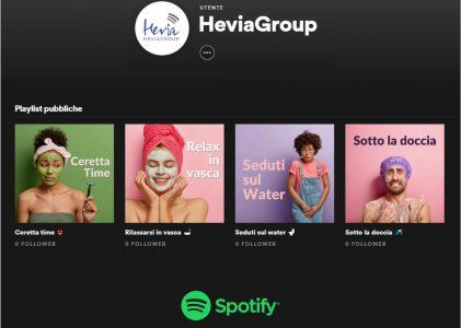 Le Playlist Spotify per il bagno di HeviaGroup