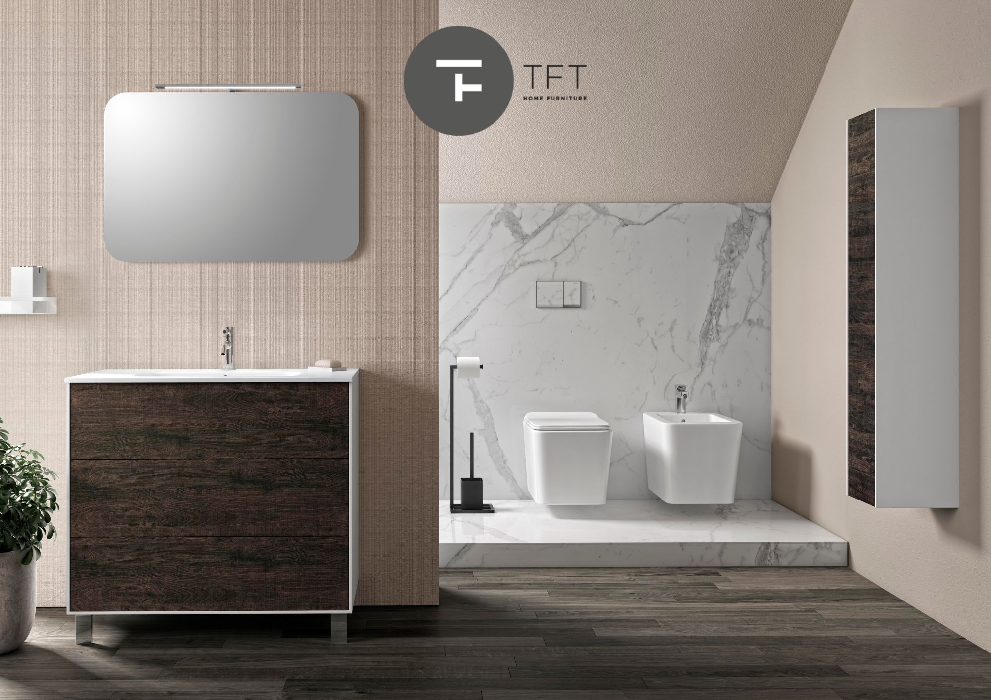 La qualità dell'arredo bagno Made in Italy di TFT Home Furniture